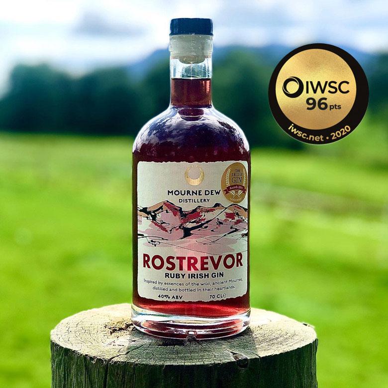 Mourne-Dew-Distillery-Rostrevor-Ruby-Irish-Gin-Newry-IWSC-Award