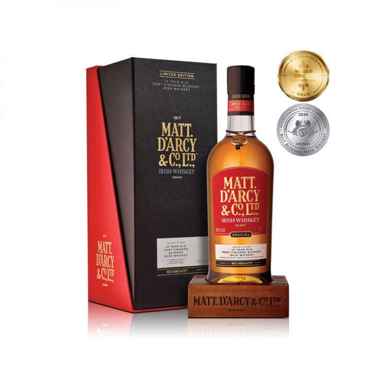 Mourne-Dew-Distillery-Northern-Ireland-Matt-Darcy-&-Co-10-Year-Old-Port-Finished-Irish-Whiskey-Gift-Pack
